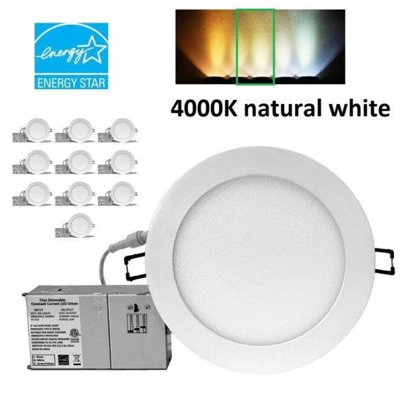 YUURTA 6-Inch LED Pot Light (Downlight) 4000K Dimmable Recessed IC Rated